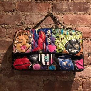 Handbags - Custom Painted Quilted Leather Bag